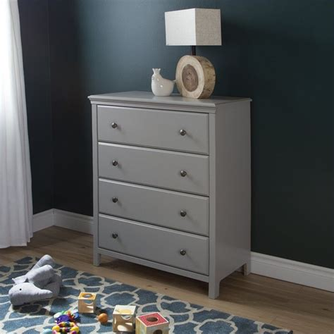 Gray Baby Dresser by South Shore Cotton 4 Drawer Chest Soft Gray Baby
