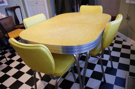 genuine 1950s chrome and arborite kitchen table for sale