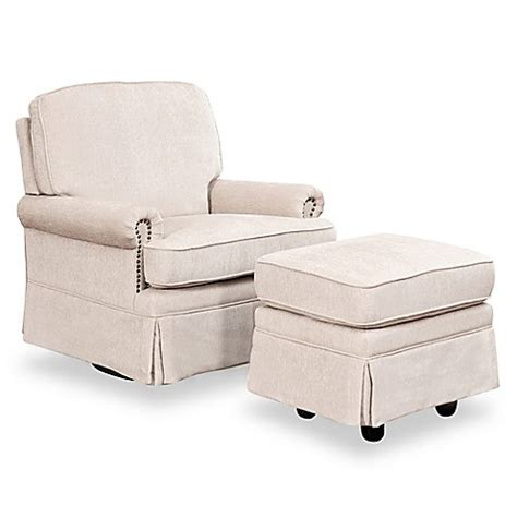 Swivel Glider And Ottoman Set Abbyson Living Becca Swivel Glider Chair And Ottoman Set In Buybuy Baby