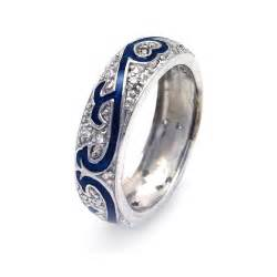 celtic wedding band design wedding rings engagement rings gallery sterling silver cz wedding band with blue enamel