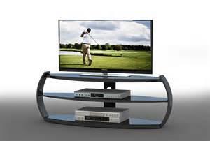 meuble tv design en verre coloris noir arona meuble tv