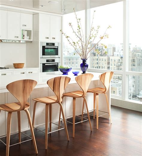 Designer Bar Stools Kitchen Captivating Design Of The Cherner Barstools Decoist