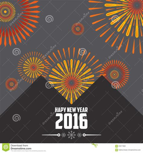 new year template 2016 new year 2016 vector template stock vector image 63577962