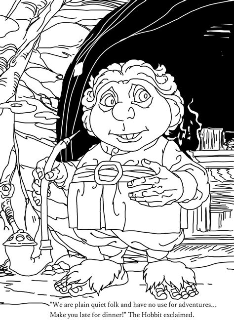 hobbit coloring pages gerard way on quot bandit and i made this hobbit