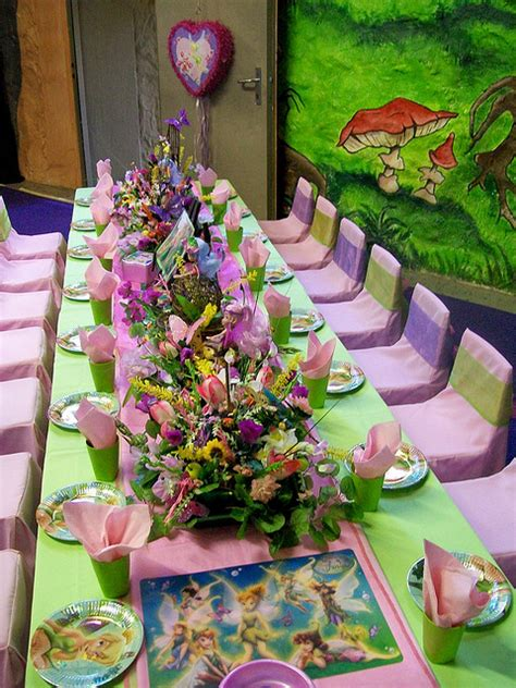 disney tinker bell themed birthday party celebration idea