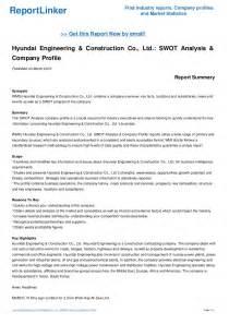 Hyundai Engineering And Construction Company Hyundai Engineering Construction Co Ltd Swot