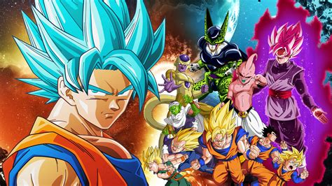 dragon ball wallpaper deviantart dragon ball z and dragon ball super wallpaper by