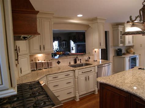 Mid Continent Cabinets for Kitchen Interior with Marble