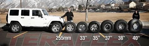 Jeep Tire Size Jeep Wrangler Tire Size Chart Gear Ratio To Tire Size