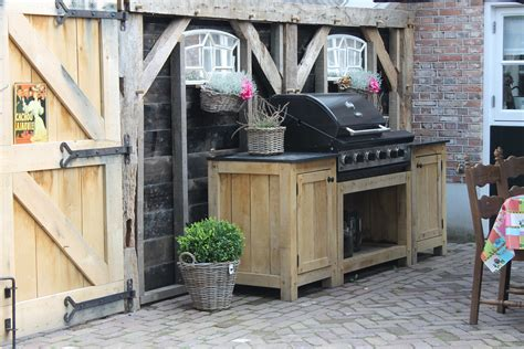 buitenkeuken eiken buitenkeuken wj oude bouwmaterialen