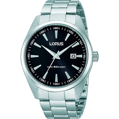 lorus rh999cx9 s chunky steel black quartz
