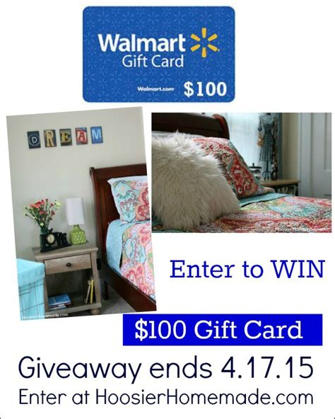 Send A Walmart Gift Card - walmart gift card giveaway 100 hoosier homemade