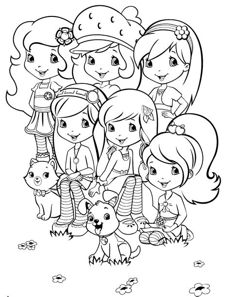 strawberry shortcake and friends coloring pages coloring me