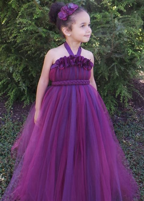 Baby Wine Tutu Dres flower tutu dress plum wine majestic magenta 5 6