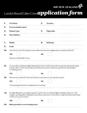 cabin crew application form cabin crew application form fill printable
