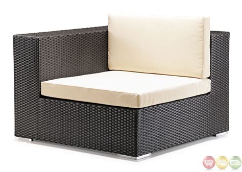 zuo modern outdoor furniture cartagena espresso corner chair zuo modern 701002 modern