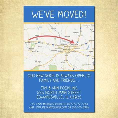 free printable moving announcement card template 17 best images about change of address ideas on