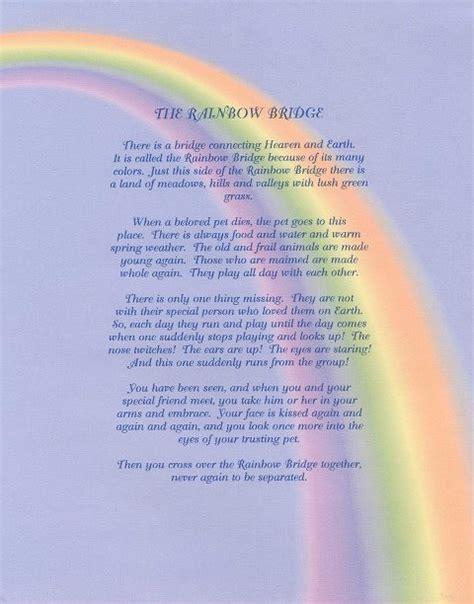 printable version of the rainbow bridge poem rainbow bridge give a dog a home german shepherd dog rescue