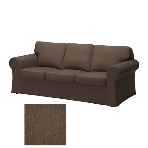 ikea ektorp three seat sofa ikea ektorp 3 seat sofa slipcover cover jonsboda brown