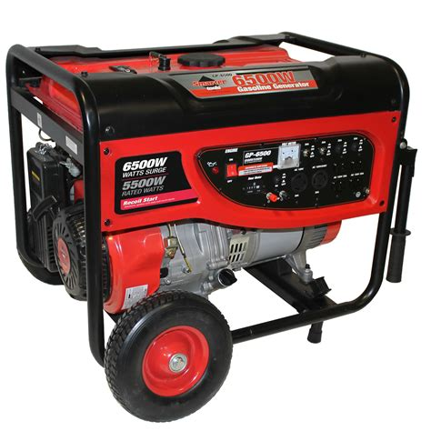 smarter tools st gp6500 6500 watt portable gasoline