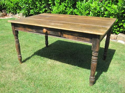 antique reclaimed pine kitchen dining table with