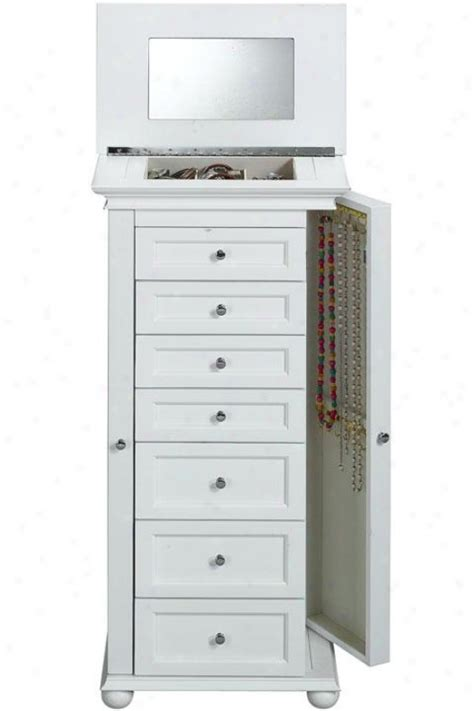 recessed jewelry armoire old towne bed home decorations smart shop buy dot com