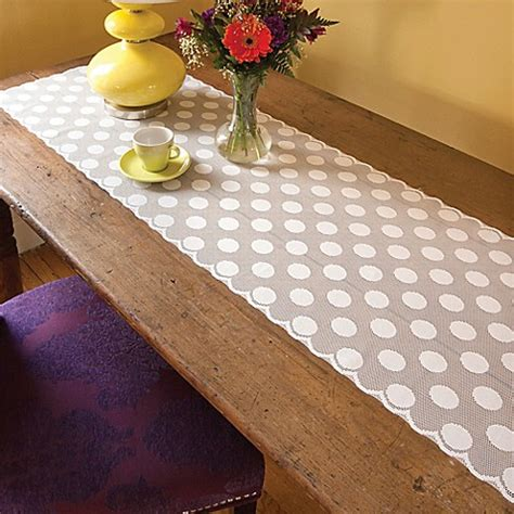 96 inch table runner buy heritage lace 174 polka dot 96 inch table runner in white