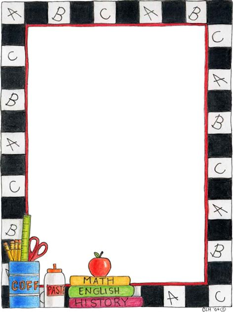 Theme Paper For School free school themed border paper back to school bulletin