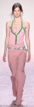 hanna f model nipple slip teyana taylor walks nyfw runway as models have nip slips