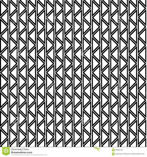 zig zag triangle pattern seamless vector geometric pattern black and white