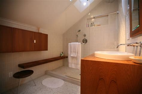 sleek bathroom design efficient use of your attic 18 sleek attic bathroom