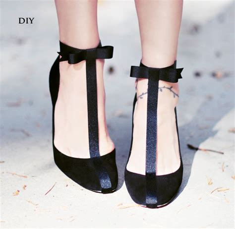 diy heel straps diy shoes pretty t straps with ankle bows