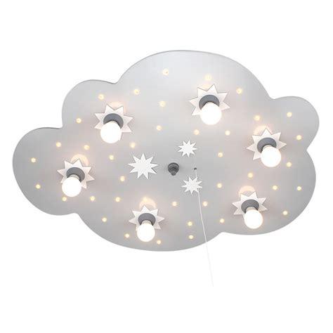 kinderzimmer deckenleuchte wolke led schlummerlicht sternenwolke silber weiss 6er