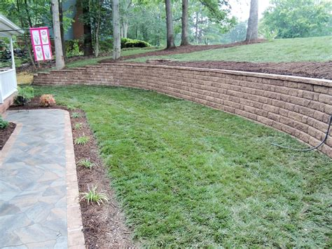 Retaining Wall Ideas For Backyard by Retaining Walls Designs Backyard Wall Ideas And For Yard