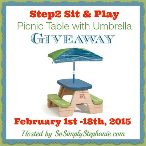 Umbrella Giveaways - spring domesticating michelle