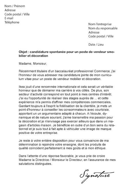 Lettre De Motivation Vendeuse En Décoration D Intérieur Lettre De Motivation Ikea Vendeur Mod 232 Le De Lettre