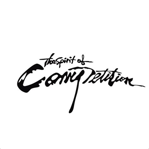Auto Sticker Bedeutung by Black The Spirit Of Competition Auto Car Truck Vinyl