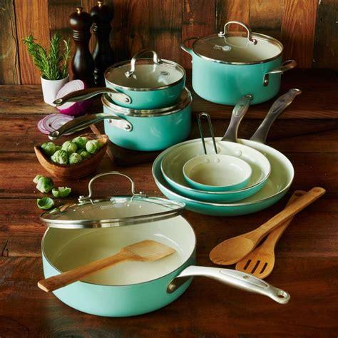 sur la table cookware greenpan healthy ceramic nonstick 14 cookware set