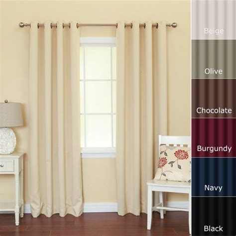 46 length curtains solid grommet top thermal insulated blackout curtain 95