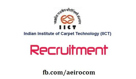 Technology Mba Recruiting by Posts At Indian Institute Of Carpet Technology Jammu