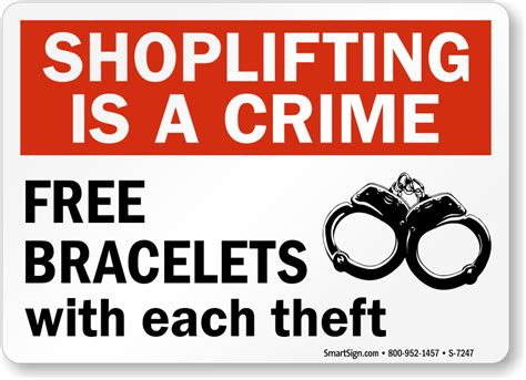 signs that a is shoplifting is a crime sign sku s 7247