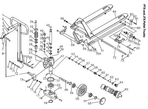 pallet parts diagram jet 140093 ptx 2748 pallet truck parts
