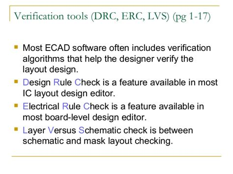 layout versus schematic verification report cadence lvs ecd302 unit 01 investigate ecad systems