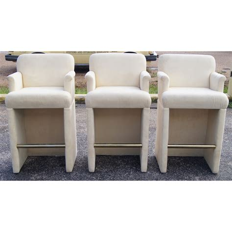 Upholstered Bar Stools With Arms 3 Upholstered Bar Stools With Arms Ebay