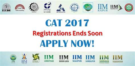 Mba Registration Date 2017 by Cat 2017 Registrations Ends Today Apply Now