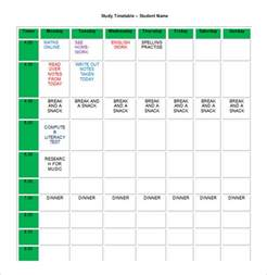 editable template for students homework schedule template 8 free word excel pdf