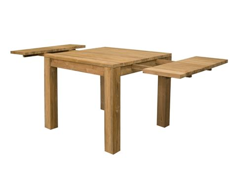 square expanding table square extending dining tables solid reclaimed teak