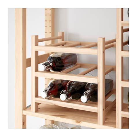 ikea hutten hutten 9 bottle wine rack solid wood ikea