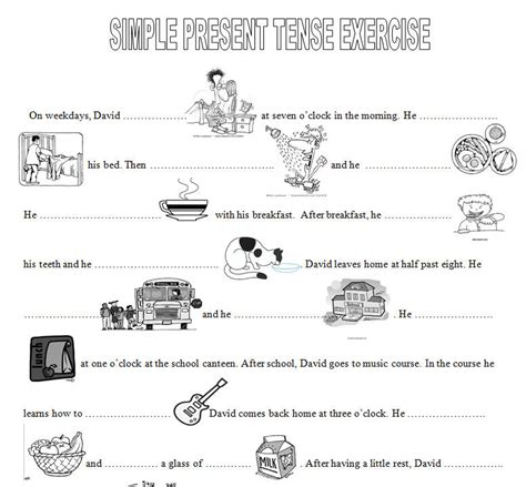 Present Tense Worksheets