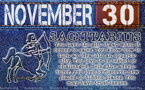 november 30 birthday horoscope personality sun signs